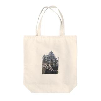 島原城と桜 Tote bags