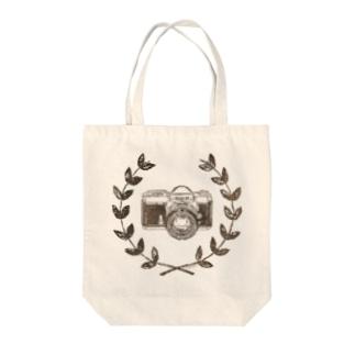 レトロカメラ(一眼レフ/淡色生地用) Tote bags