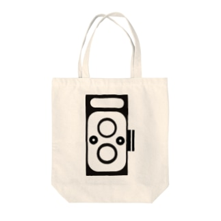 2眼レフカメラ Tote bags
