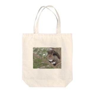 エゾリス Tote bags