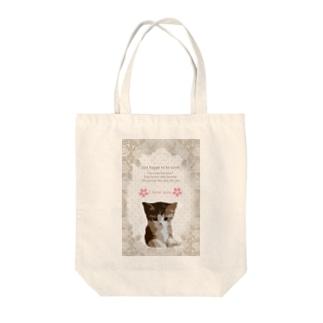 こんなの欲しいをご提供!ArtDesiartの可愛い!子猫ちゃん Tote bags