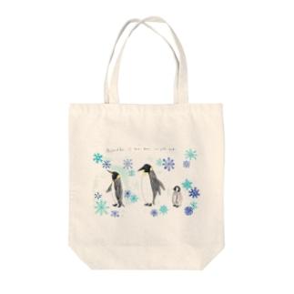ペンギン親子 Tote bags