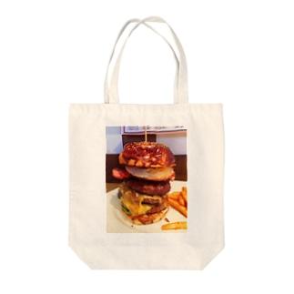 ハンバーガー3段 Tote bags