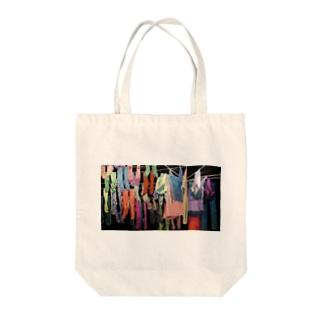 川村綾子のランドリーランド Tote bags