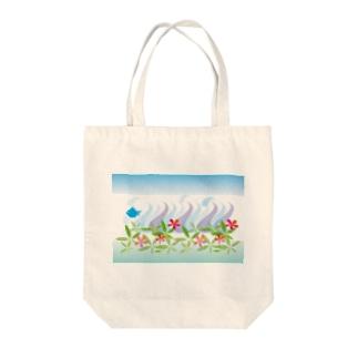 トロピカル・オーシャン Tote bags