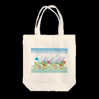 ジルトチッチのデザインボックスのトロピカル・オーシャン Tote bags