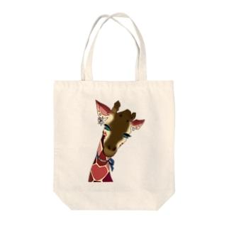 love giraffe Tote bags