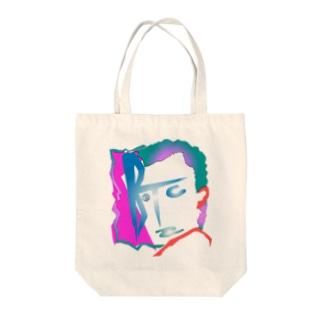 ナサカファブのビットコインマン Tote bags