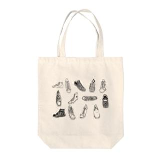 sakikoのsneaker Tote bags