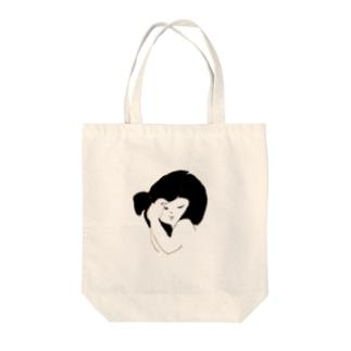 GIRL-A Tote bags
