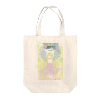 天使の導き Tote bags