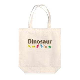 お気らくDinosaur Tote bags