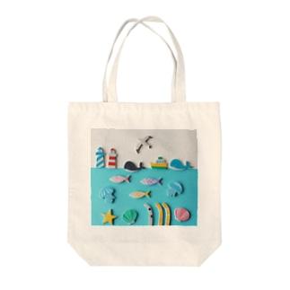 ユメギワ的ウミノナカ Tote bags