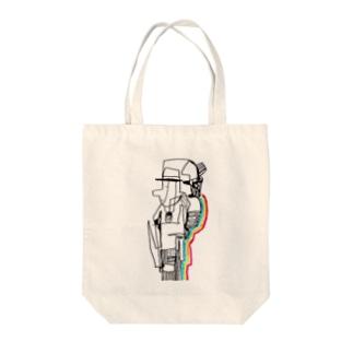 にじおじさん Tote bags
