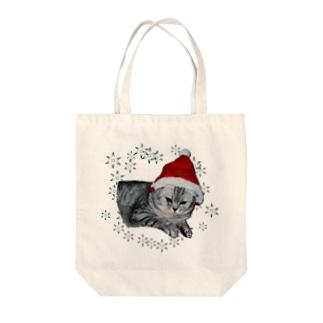 クリスマス猫 Tote bags