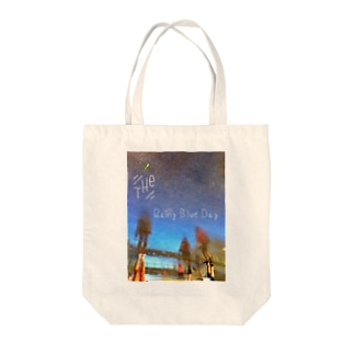Keven Huang    のThe Rainy Blue Day Tote bags