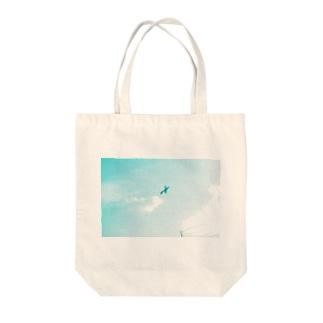 おもちゃ飛行機 Tote bags
