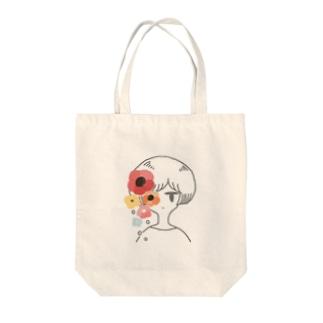 花と×× Tote bags