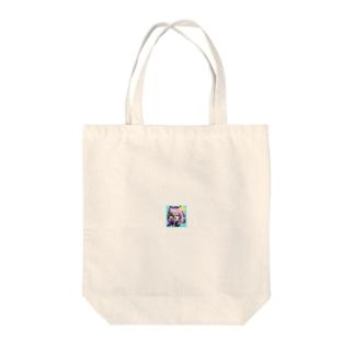 猫娘のウインク Tote bags