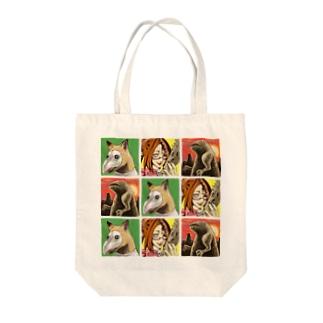 魔法淑女とお供たち Tote bags