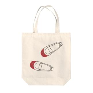 懐かしい脱ぎっぱなしの上履き(赤) トートバッグ