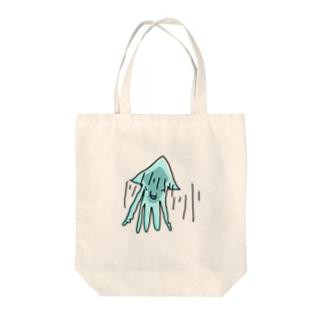 いか(がーん)  Tote bags