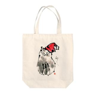 ネコのムウ Tote bags