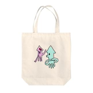 いか(まちあわせ) Tote bags