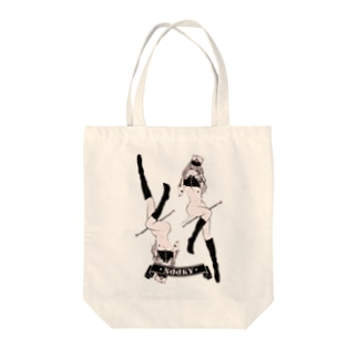 loveclonesのNOOKY ツインテール ガールプリント Tote bags