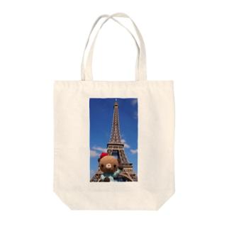 いちかわみゆきのBonjour!くまこエッフェル塔に行く Tote bags