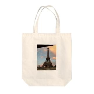 davidsのセーヌ川からのエッフェル塔 Tote bags