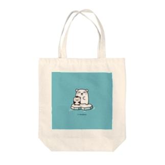 シロクマペンギン Tote bags