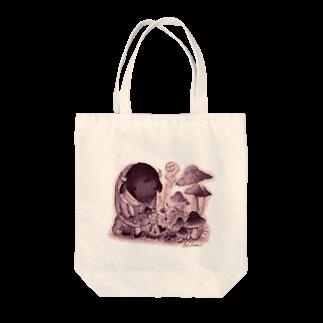 葉守 碧のきのこの森の出会い Tote bags