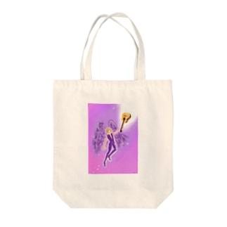 violet angel Tote bags