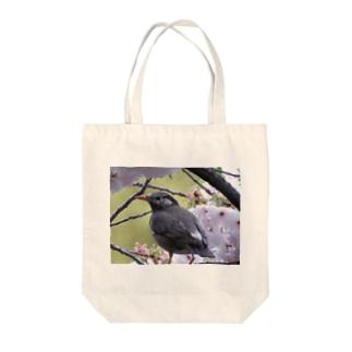 桜にムクドリ Tote bags