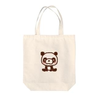 ほっこりパンダ Tote bags