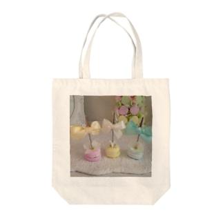 マカロンスタンド Tote bags