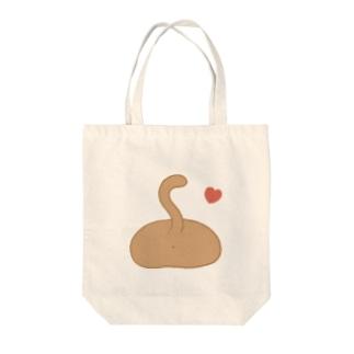 ねこしり Tote bags