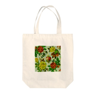 chikaeのレトロバラ柄 Tote bags