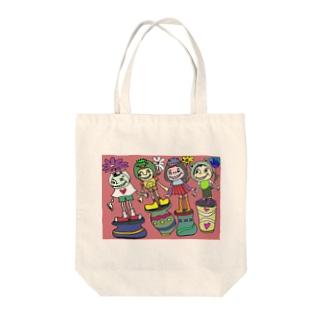 かぶりもの Tote bags