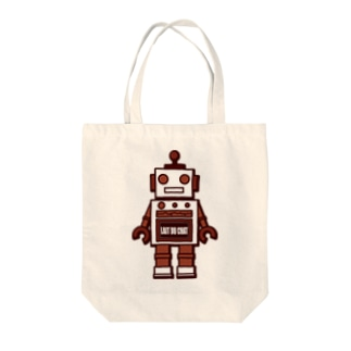Cɐkeccooのレトロ★ロボット-チョコ Tote bags