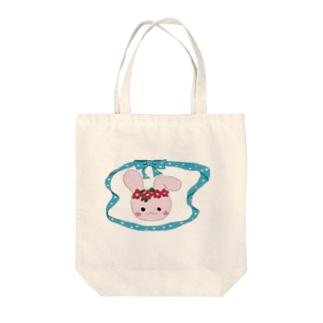 しょこめろの花冠うさちゃん Tote bags