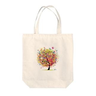 haru204のカラフルな木 Tote bags