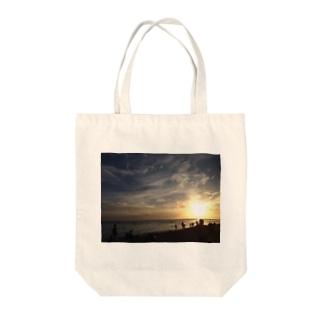 嗚呼、陽が沈む… Tote bags
