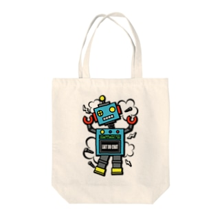 Cɐkeccooのレトロ★ロボット-ポンコツ!? Tote bags