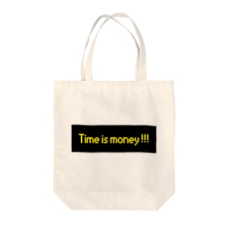 time is money Tote bags