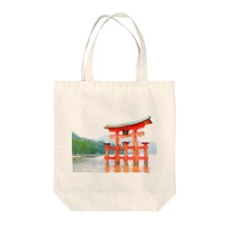 宮島鳥居グッズ Tote bags