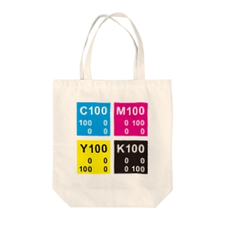 CMYKカラー SQUARE Tote bags