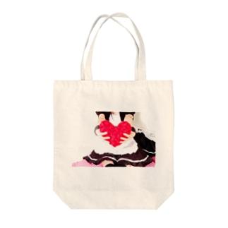 ひろのラブ Tote bags