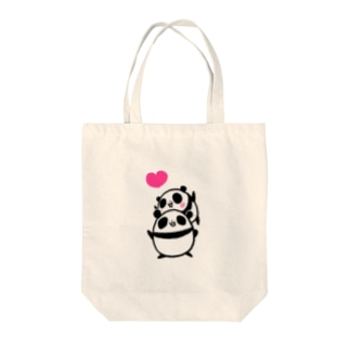 LOVEパンダ Tote bags